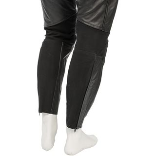 Softline Stretch Leder Stiefelhose